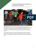 09-08-2018 Claudia Pavlovich Anuncia Declaratoria de Emergencia en Zonas Afectadas de Guaymas y Empalme - Expreso
