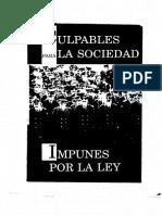 1988 + CELS + Culpables para la sociedad impunes para la ley