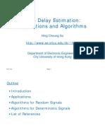 Time delay estimation