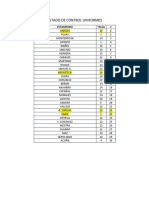 Listado de Control Uniformes