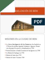 La Evangelización de Beni