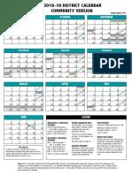 Springfield Public Schools calendar 20018-2019