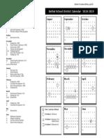 Bethel Schools 2018-2019 calendar