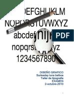 examen tipografia