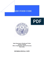 Idaho Food Code