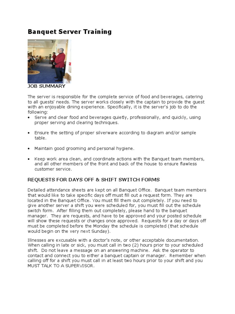 Baqnuet Training Manual | Entrée | Tableware