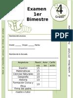 4to Grado - Examen Bloque 1 (2017-2018)
