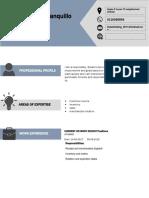 Curriculum Vitae Format Evidencia Ingles