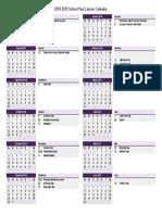School Event Calendar