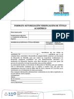 Verificacion titulo academico