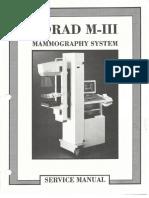 Lorad M-III Mammography System Service Manual 9-500A-0029