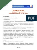 Decreto 831 - Residuos Peligrosos