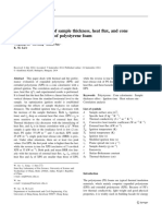 Correlation analysis of sample thickness, heat flux, and cone calorimetry test data of polystyrene foam