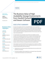 The Business Value of High-Availability Storage Environments