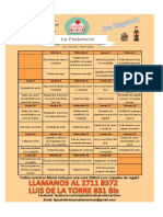 Menu La Pasteleria Octubre 2013