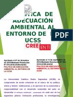 Politica de Adecuación Ambiental Al Entorno de La Ucss