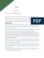 SUMMARYOFETHICSANDPROFESSIONALISM[1]