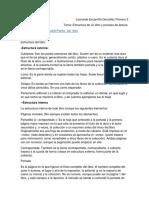 Estructura de Libro y Proceso de Lectura