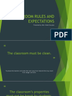 Done Classroom Rules and Regulation