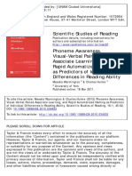 Phoneme Awareness, Visual-Verbal Paired- Associate Learning, and Rapid Automatized Naming as Predictors of Individual Differences in Reading Ability