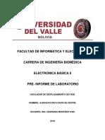 Preinforme de Lab de Oscilador de Desplazamiento de Fase