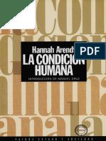 La Condición Humana Hannah Arendt