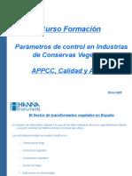 Parámetros de Control en Industrias de Conservas Aguas y APP