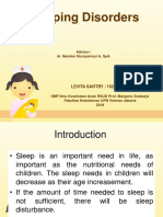 Ppt Sleep Disorders - English