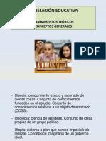 1. conceptos basicos de Legislación Educativa.