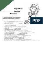 Possessive Adjectives and Possessive Pronouns2014
