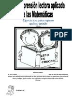 Tarea Vacaciones Diciembre Compensión Lectora Aplicada a Las Matemáticas