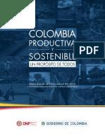 Colombia Productiva y Sostenible Un Propósito de Todos