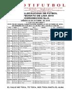 Programacion Liga No.021 2010
