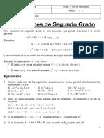 Tema 21 Ecuaciones de Segundo Grado