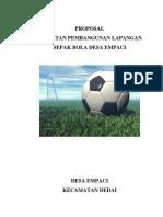Proposal Pembangunan Lapangan Sepak Bola