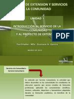 SERVICIO A LA COMUNIDAD Y PROYECTO DE EXTENSION