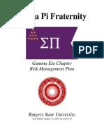 gamma eta updated risk management plan