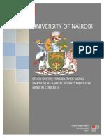 Thomas Joseph Odero-Estudio Sobre La Viabilidad de Utilizar Aserrín Como Reemplazo Parcial de Arena en Concreto-Nairobi,Kenia-2015