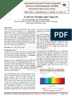 Accessing the Internet Through Light Using LiFi
