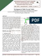 Design and Development of Multi-Terrain Vehicle