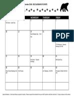 2018 september school calendar