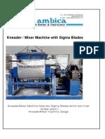 Sigma Mixer Catalog New