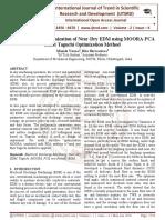 Multi Objective Optimization of Near-Dry EDM using MOORA-PCA based Taguchi Optimization Method
