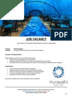 20180814 Hurawalhi JobMaldives Marine Biologist