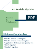 Prim's and Kruskal's Algorithm