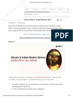 SSC GK Medieval History Notes_ Anglo-Mysore War