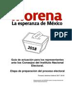 Manual de Actuación de Representantes INE