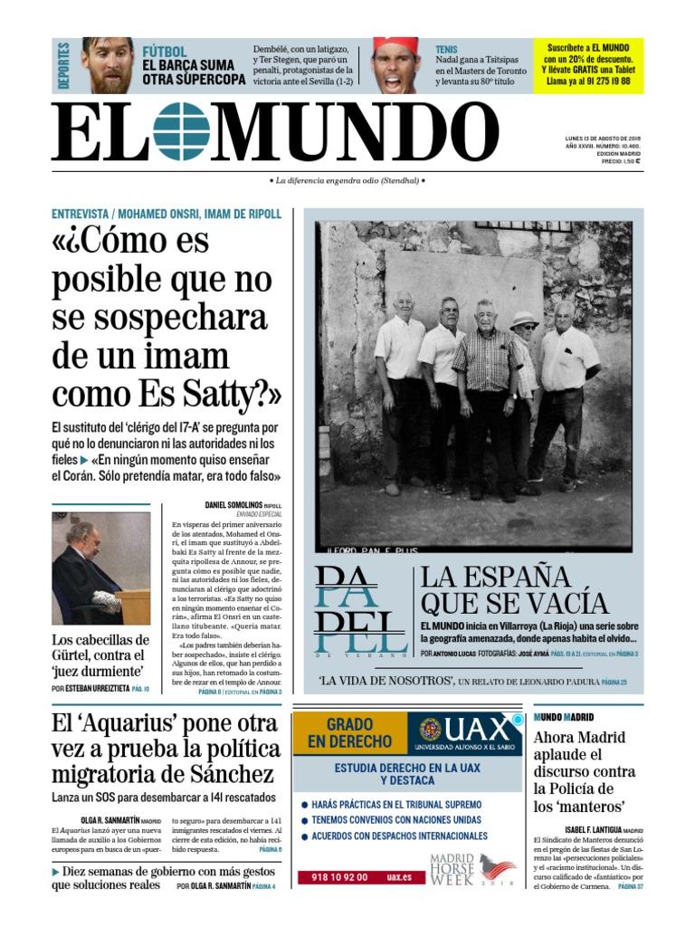 El Mundo  13-08-18  8aa76d7d0f