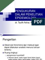 Pengukuran Dalam Penelitian Epidemiologi