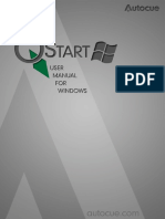 QStart Windows Software Manual